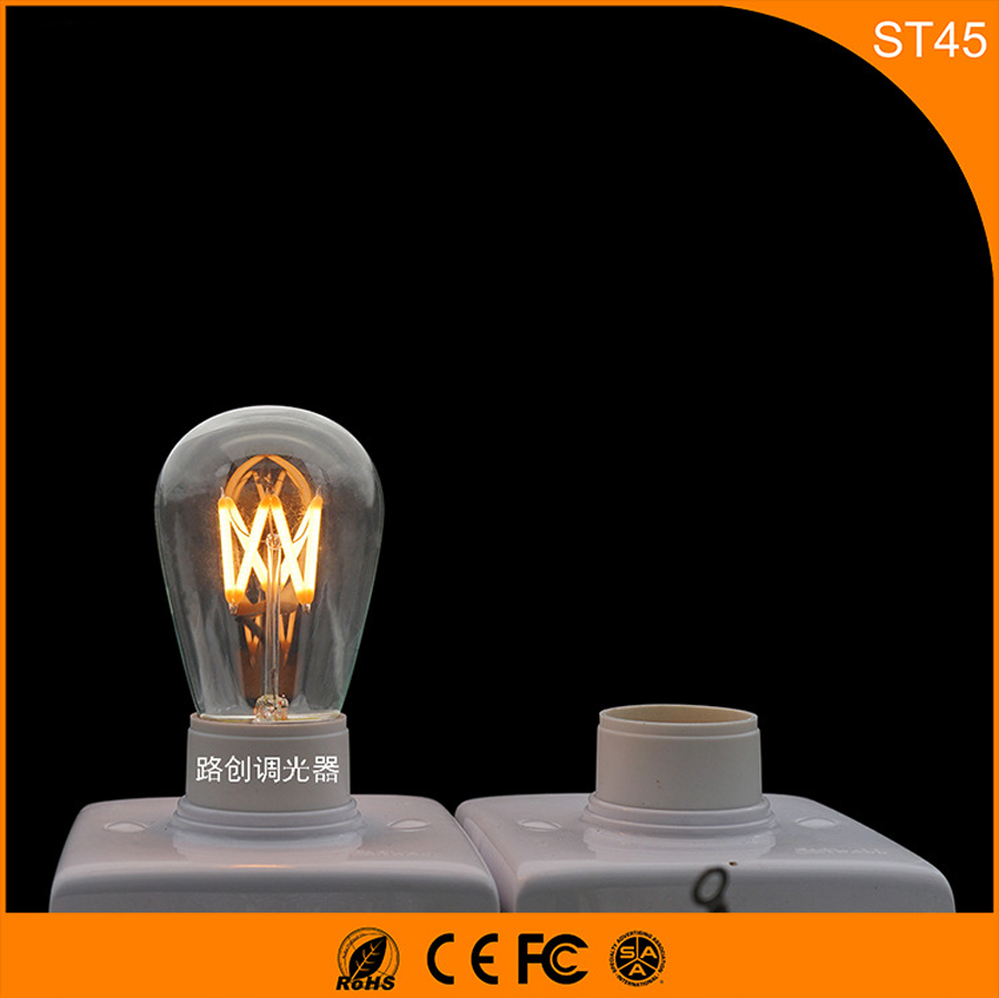 50PCS Retro Vintage Edison E27 B22 LED Bulb ,ST45 3W Led Filament Glass Light Lamp, Warm White Energy Saving Lamps Light AC220V edison led filament bulb g125 big global light bulb 2w 4w 6w 8w led filament bulb e27 clear glass indoor lighting lamp ac220v