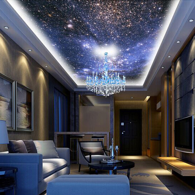Custom 3d photo wallpaper star planet universe space for Space wallpaper bedroom