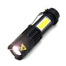 NEW ARRIVAL Super Bright Mini COB LED Flashlight Cree XML Q5 Led Torch COB Flashlights 4 Modes Portable Lights for Camping