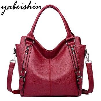 0a68933cbddb 2018 роскошные сумки женская сумка дизайнерская Высококачественная кожаная сумка  на плечо женская большая сумка повседневная женская