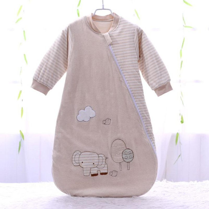 Spring And Autumn Cotton Sleeping Bag Long Sleeve Khaki And Grey Sleep Sack Soft Warm Newborn Envelop Sleeping Bag Baby