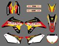 0580 hot red NEW EAM DECALS  GRAPHICS BACKGROUNDS STICKERS FOR SUZUKI RMZ450 2007 (star)