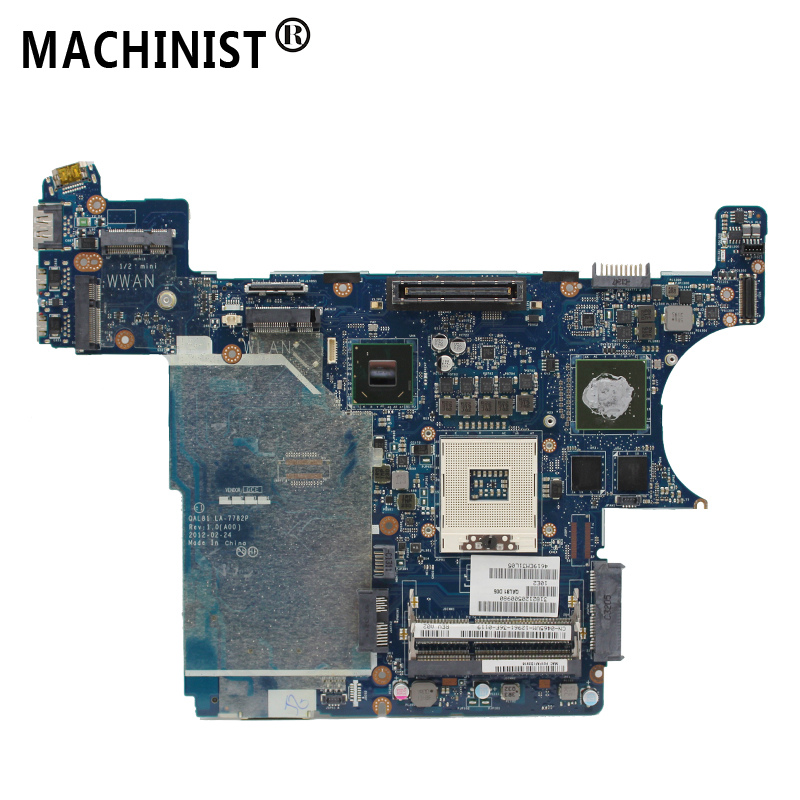 Original For Dell latitude E6430 laptop motherboard MB NVS 5200 1GB QM77 PGA989 DDR3 0465VM QAL81 LA-7782P 100% fully Tested