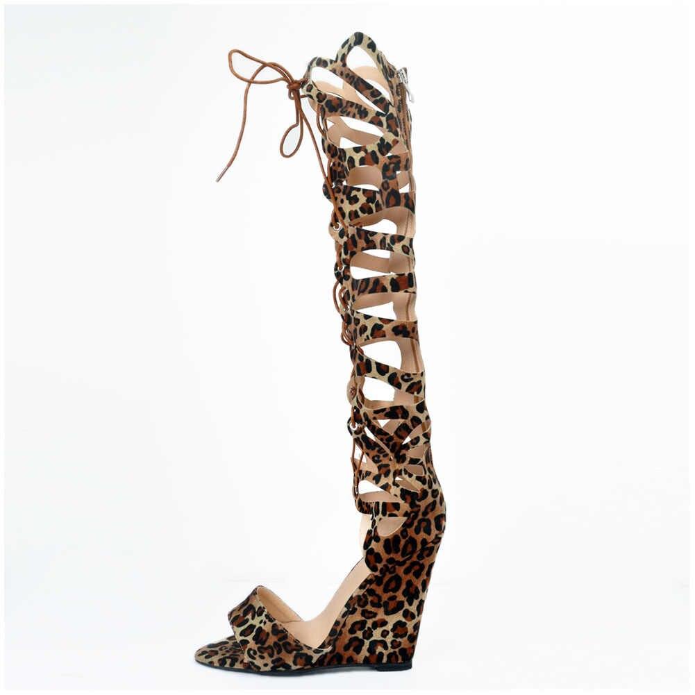 DoraTasia יוקרה סקסי גדול גדלים 35-47 נשים נעלי גלדיאטור מגפי אופנה סקסי מסיבת נעלי אישה