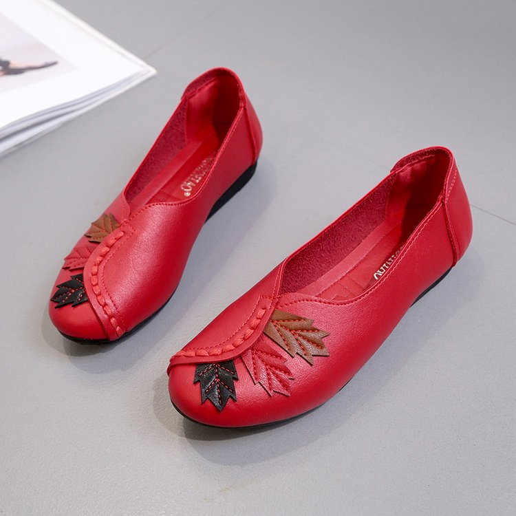 18 Soft Women Shoes Flats Moccasins Slip on Loafers Genuine Leather Ballet Shoes Fashion Casual Ladies Shoes Footwear E003 9