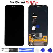 For Xiaomi Mi 8 Pro LCD Display with Frame 10 Touch Screen for Mi8 AMOLED fingerprint Digitizer Replacement