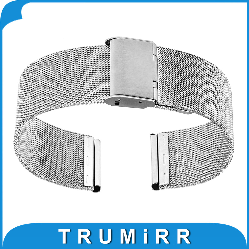 Milanese Band 18mm for Withings Activite / Steel / Pop Mesh Stainless Steel Watchband Metal Strap Bracelet with Tool Spring Bar crested milanese loop strap metal frame for fitbit blaze stainless steel watch band magnetic lock bracelet wristwatch bracelet