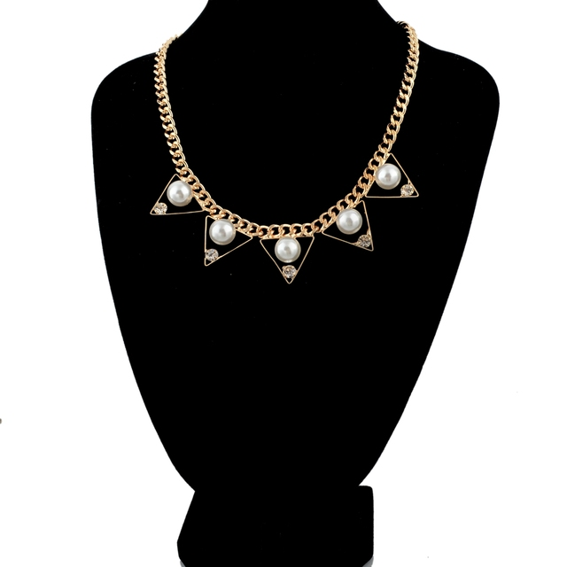 женское винтажное жемчужное ожерелье chicvie золотое и кулоны фотография