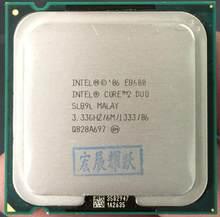 Processeur Intel Core 2 Duo E8600, 6 mo de Cache, 3.33 GHz, 1333 MHz FSB, SLB9L EO LGA775, unité de traitement centrale pour ordinateur de bureau