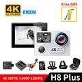 EKEN H8 plus Ultra HD 4 K/30fps 1080 p/120fps wifi Cámara de la Acción a12 ambarella chip dual pantalla go pro cámara partido yi accesorios