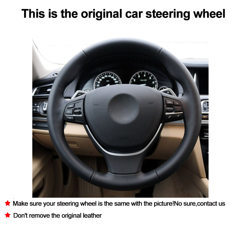 Hand Sewing DIY Car Steering Wheel Cover Suede Leather For BMW F10 2014 520i 528i 2013 2014 730Li 740Li 750Li Car Accessories-in Steering Covers from Automobiles & Motorcycles    2