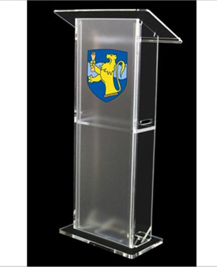 Detachable Cheap Acrylic Church Lectern Bureau  Desk Podium  Stand  Transparent Pulpit