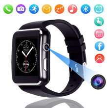 X6 smart watch 1.54 inch narrow side screen 2.5D arc step counter sleep monitoring card Bluetooth sports FOR: IPHONE