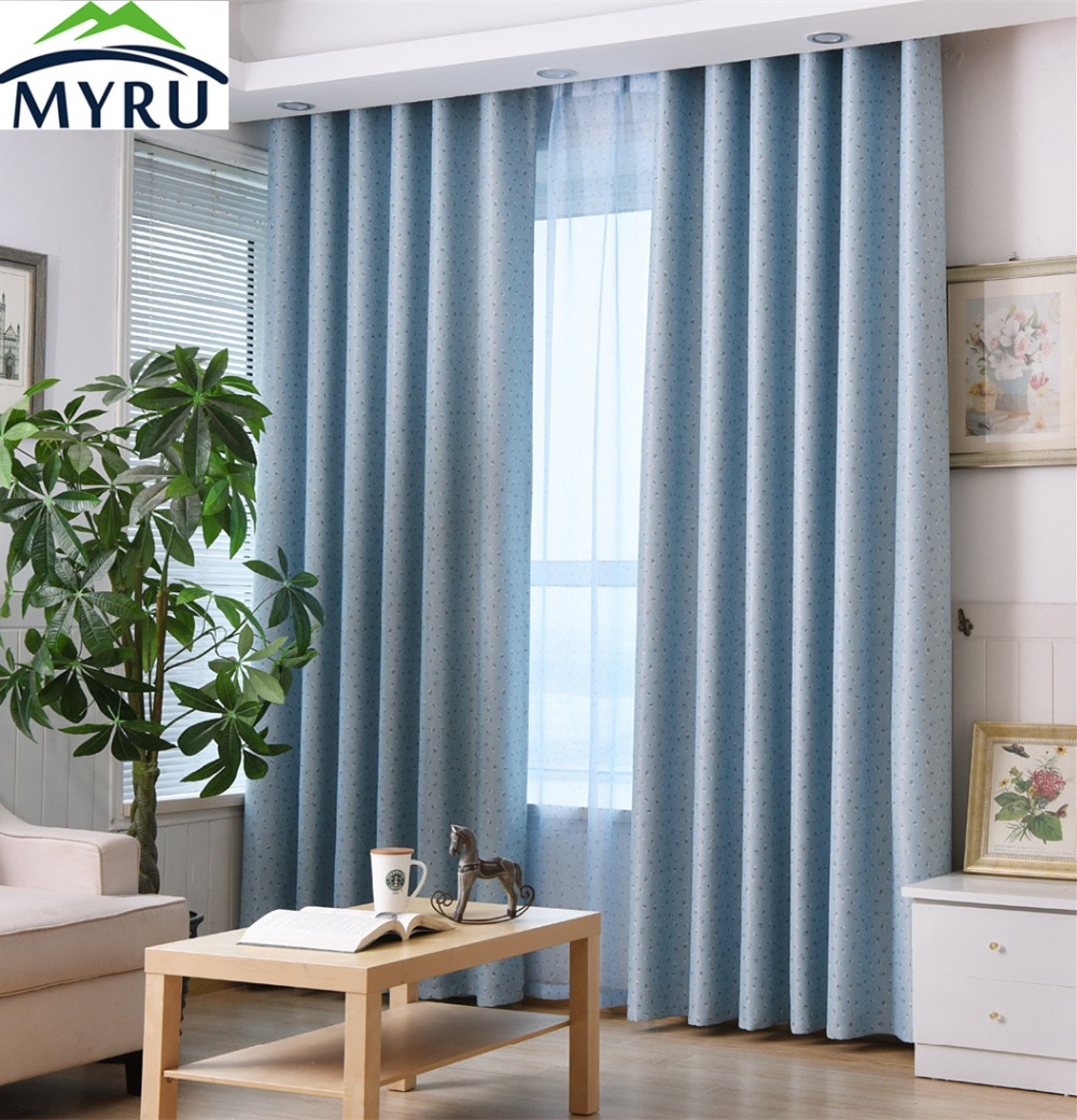 Blue curtain living room - Blue Curtain