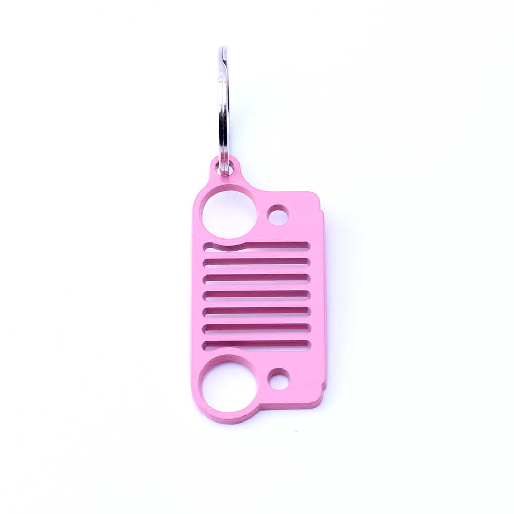Armsky Горячая продажа гриль из нержавеющей стали брелок автомобильный брелок для любителей джипа розовый цвет