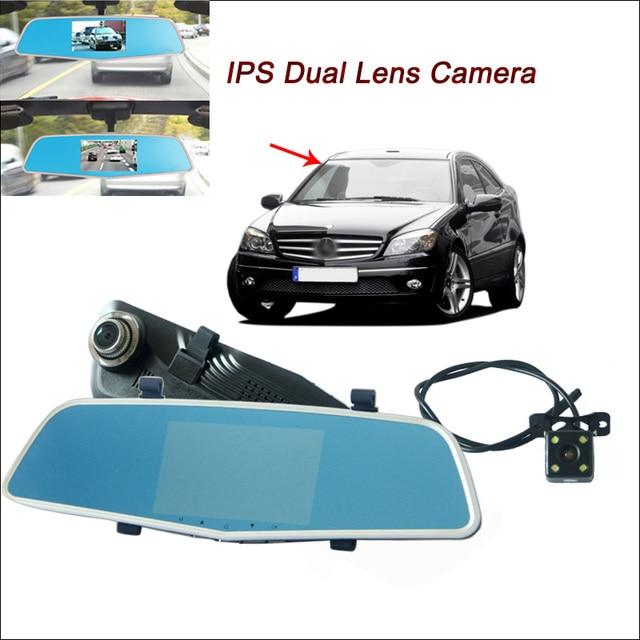 US $78 43 10% OFF|BigBigRoad For Benz W203 W211 C200 W204 Gla Glk A C Class  Car DVR Rearview mirror video recorder Car DVR 5 inch IPS Screen-in