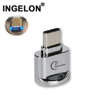 Ingelon タイプ c micro sd カードリーダー金属 otg アダプタメモリ tf カードリーダー usb c 電話 usb microsd アダプタドロップシッピング