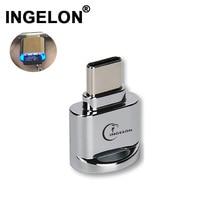 Ingelon tip c micro sd kart okuyucu Metal OTG adaptörü bellek TF Cardreader USB C telefonlar usb microsd adaptörü Dropshipping
