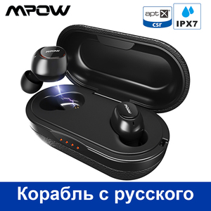 Image 1 - Mpow T5/M5 M משלוח Aptx TWS אוזניות Bluetooth 5.0 IPX7 עמיד למים ספורט אוזניות עם 5H לשחק זמן עבור Iphone X Huawei P20 לייט