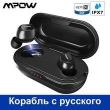 Mpow T5/M5 M Trasporto Aptx Tws Auricolare Bluetooth 5.0 IPX7 Impermeabile Auricolari Sportivi con 5H Gioco tempo per Il Iphone X Huawei P20 Lite
