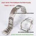 316L cinturino in acciaio inox lunetta/caso DW5600 GW5000 GW-M5610 cinturino in metallo cintura in acciaio strumenti per gli uomini/donne regalo