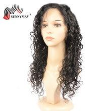 Sunnymay Pre habozott teljes csipke parókák Emberi haj Természetes Curly Maláj szűz haj Emberi haj paróka Baby Hair