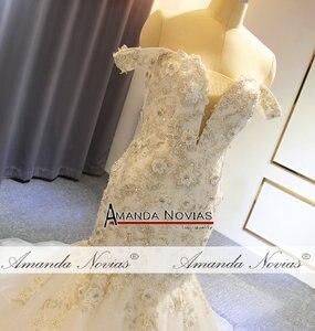 Image 4 - Off the shoulder straps africa mermaid wedding dress bridal dress fishtail