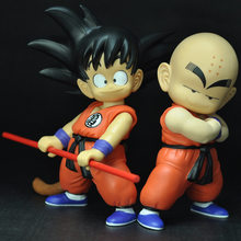 ZXZ 2 pçs/set Anime 19 cm Figuras de Ação De Dragon Ball Z Super Saiyan Trunks Gohan Dragonball Mestre Modelo Estatueta Colecionável brinquedo(China)