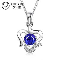 YUEYIN Necklaces & Pendants 925 Sterling Silver Pendant Collares Fine Jewelry Natural Stone Pendant Body Chains Colares Bijoux
