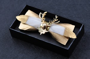 Image 5 - man free shipping New MENS 2018 Golden feather stitching leather bow gold deer head man bow tie groom groom wedding feather