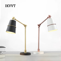 Modern metal creative table lamp simple bedroom bedside reading lamp office, study desk lamp Free shipping