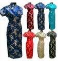 Traditional Chinese Women's Clothing Satin Cheong-sam Long Qipao Dress Suit Plus size S M L XL XXL XXXL 4XL 5XL 6XL  J3090