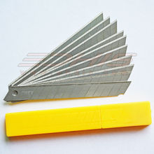 10Pcs 9mm Stainless Steel Snap Off Blades for Cutter Knife font b replacement b font Spare
