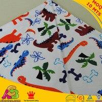 Miễn phí vận chuyển dino thiết kế Minky In Vải được sử dụng cho bé trai chăn em bé tã