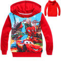 Meninos Spiderman moletom Hoodies 2-8a