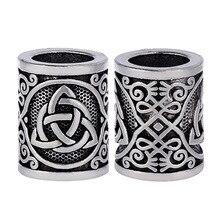 Perles Viking pour tressage, 10 pièces, 17mm, accessoires à créer soi même perles de Style pour tresses, épingles de tresse, anneaux, Clips de manchette, décoration bijoux