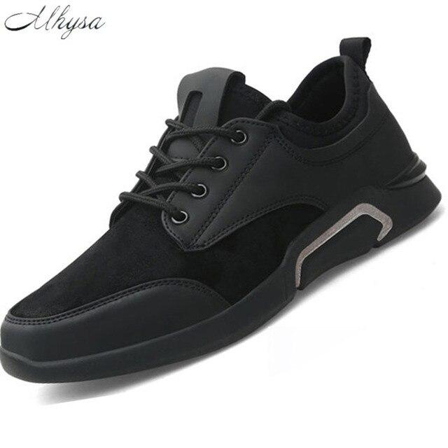 Mhysa marca Homens sapatos Leves tênis botas quentes Slip-on Sapatos Casuais Para O homem Da Moda Calçado Zapatillas Hombre Preto z19
