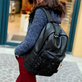 2017 Bolsas Feminina New Fashion Pu Leather Women Backpacks Girls Sequin Schoolbag Crossbody Black Back Bag For Teenagers Travel