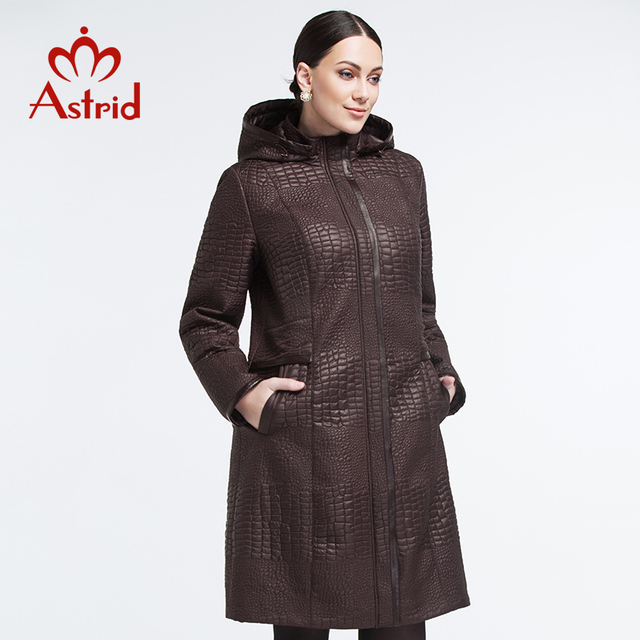 Astrid New 2018 Warm Women Winter Jacket Solid Color long Coat Fashion Slim Wadded Thick Parka Female top brand quality AM-1500