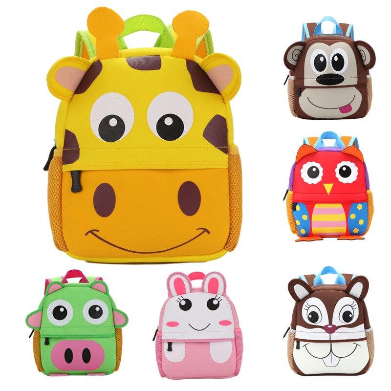 2017 New 3D Animal Children Backpacks Brand Design Girl Boys Backpack Toddler Kids Neoprene School font