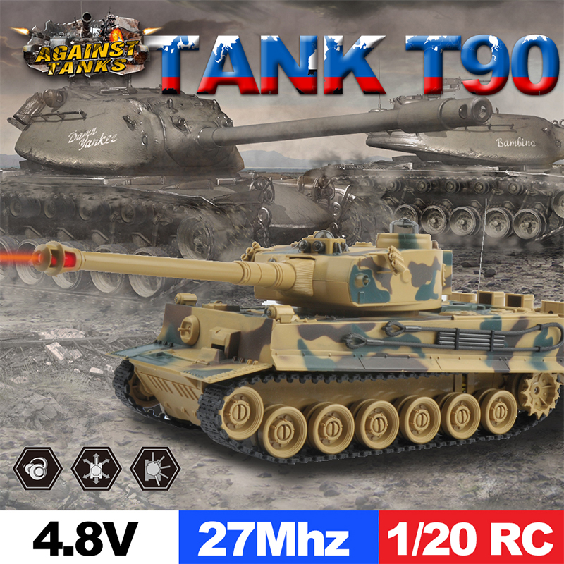 ET RC tiger tank with fort rotate Fighting Tank Infrared Remote Control Track RC Battle Tank