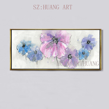 Selling hand-painted oil painting flowers of thick oil stroke abstract office sitting room sofa decorate children room restauran