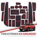 Kapısı yuvası ped Citroen C4 C5 2012-2019 Aircross DS7 2011 2013 2017 2018 İç Kapı Ped Araba bardak Tutucular kaymaz paspaslar