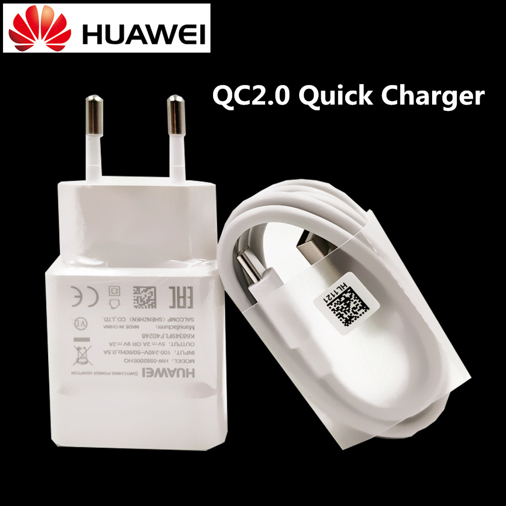 Original Huawei Honor 9 quick Charger,QC2.0 Fast Usb wall Charger adapter & Genuine usb type-C cable for p9 v9 p10 mate 8 phone