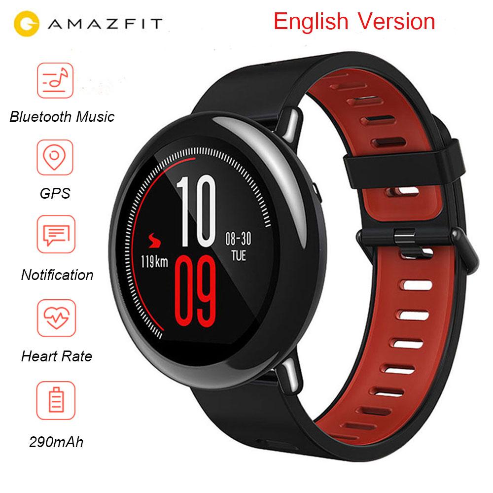 [Inglés versión] Huami AMAZFIT ver ritmo deportes reloj inteligente Monitor de ritmo cardíaco GPS Bluetooth 4,0 para Android IOS