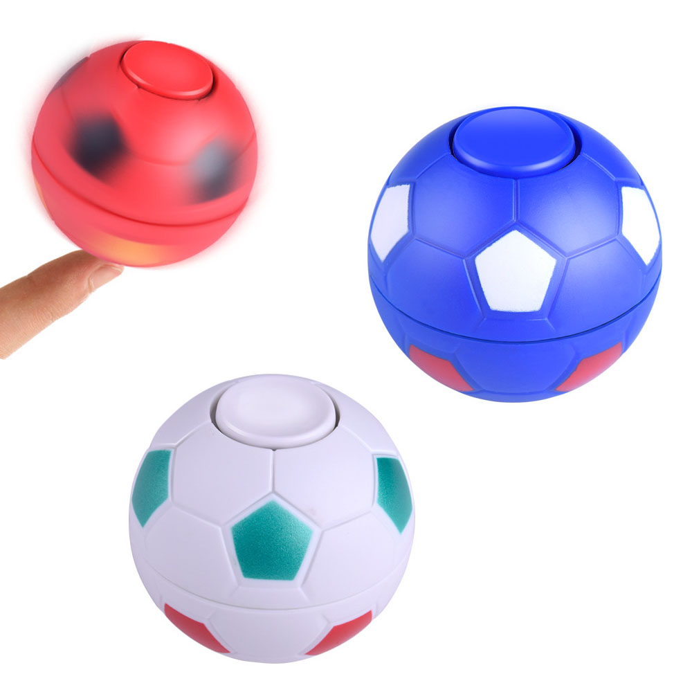 1pcs Football Fidget Hand Spinner Stress Reliever Hand Spinner Football Autism ADHD EDC Anti Stress Toys Kids Fidget Spinner