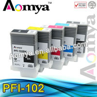 6 Pieces Set FULL Compatible PFI 102 Ink Cartridges For Canon IPF500 IPF510 IPF600 IPF605