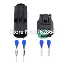 5 Set Auto 2 Pin Male Female Wire Connector Engine Coolant Temp Water Temperature Sensor Plug For BMW Buick