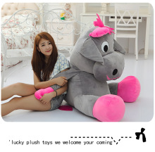 large 110cm cartoon cow plush toy gray dairy cow soft hugging pillow,surprised birthday gift h2985