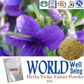 100g Natural Herba Violae Extract Powder/10:1 Viola Tricolor/Viola Yedoensis/Detumescence Plant Purpleflower Violet Extract